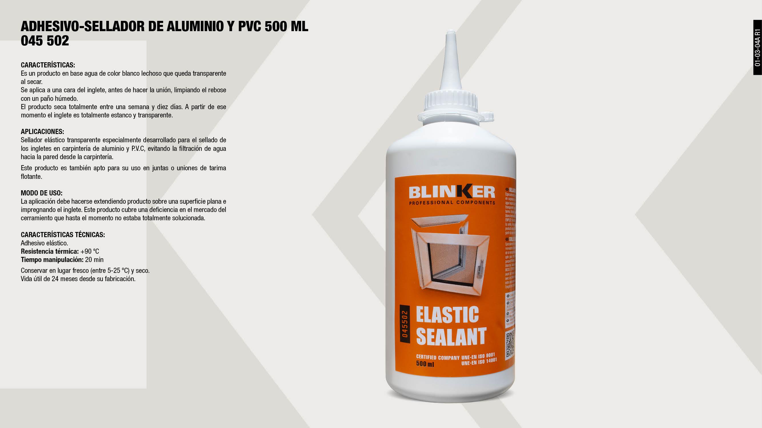 ADHESIVO-SELLADOR ALUMINIO Y PVC 450GR                      ,