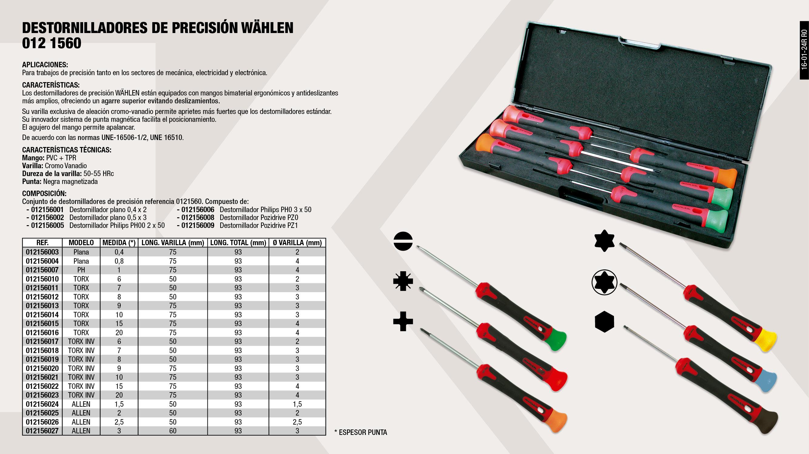 DESTOR PREC TORX T-10X3X75                                  ,  DESTOR PREC TORX T-20X4X75                                  ,  DESTOR PREC PLANO 0.4X2X75                                  ,  DESTOR PREC TORX T-6X2X50                                   ,  DESTOR PREC TORX T-8X3X50                                   ,  DESTOR PREC PZ                                              ,  DESTOR PREC PLANO 0.4X2X50                                  ,  DESTOR PREC TORX INV TT8-3X50                               ,  CONJUNTO DESTORN PREC                                       ,  DESTOR PREC PLANO 0.8X4X75                                  ,  DESTOR PREC TORX INV TT9X3X75                               ,  DESTOR PREC TORX INV TT20X4X75                              ,  DESTOR PREC TORX INV TT10X3X75                              ,  DESTOR PREC ALLEN 2X50                                      ,  DESTOR PREC TORX T-7X3X50                                   ,  DESTOR PREC PH 2X50                                         ,  DESTOR PREC PH 3X50                                         ,  DESTOR PREC TORX T-9X3X75                                   ,  DESTOR PREC PZ                                              ,  DESTOR PREC TORX INV TT-7X3X50                              ,  DESTOR PREC TORX INV TT15X4X75                              ,  DESTOR PREC ALLEN 3X60                                      ,  DESTOR PREC PLANO 0.5X3X75                                  ,  DESTOR PREC TORX T-15X4X75                                  ,  DESTOR PREC ALLEN 1.5X50                                    ,  DESTOR PREC TORX INV TT-6X2X50                              ,  DESTOR PREC ALLEN 2.5X50                                    ,  DESTOR PREC PH 4X75                                         ,