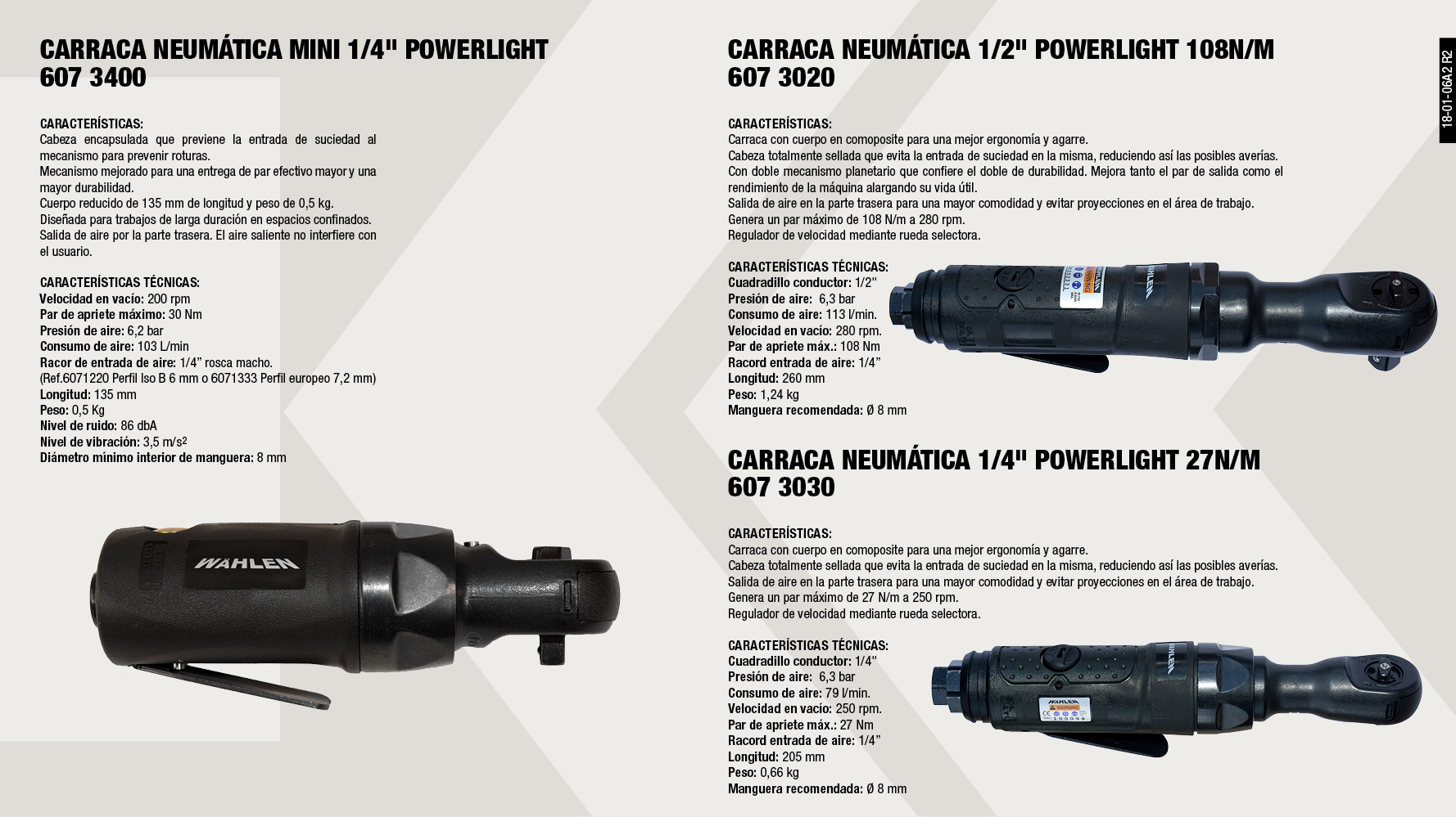 CARRACA NEUMATICA MINI 1/4' POWERLIGHT                      ,