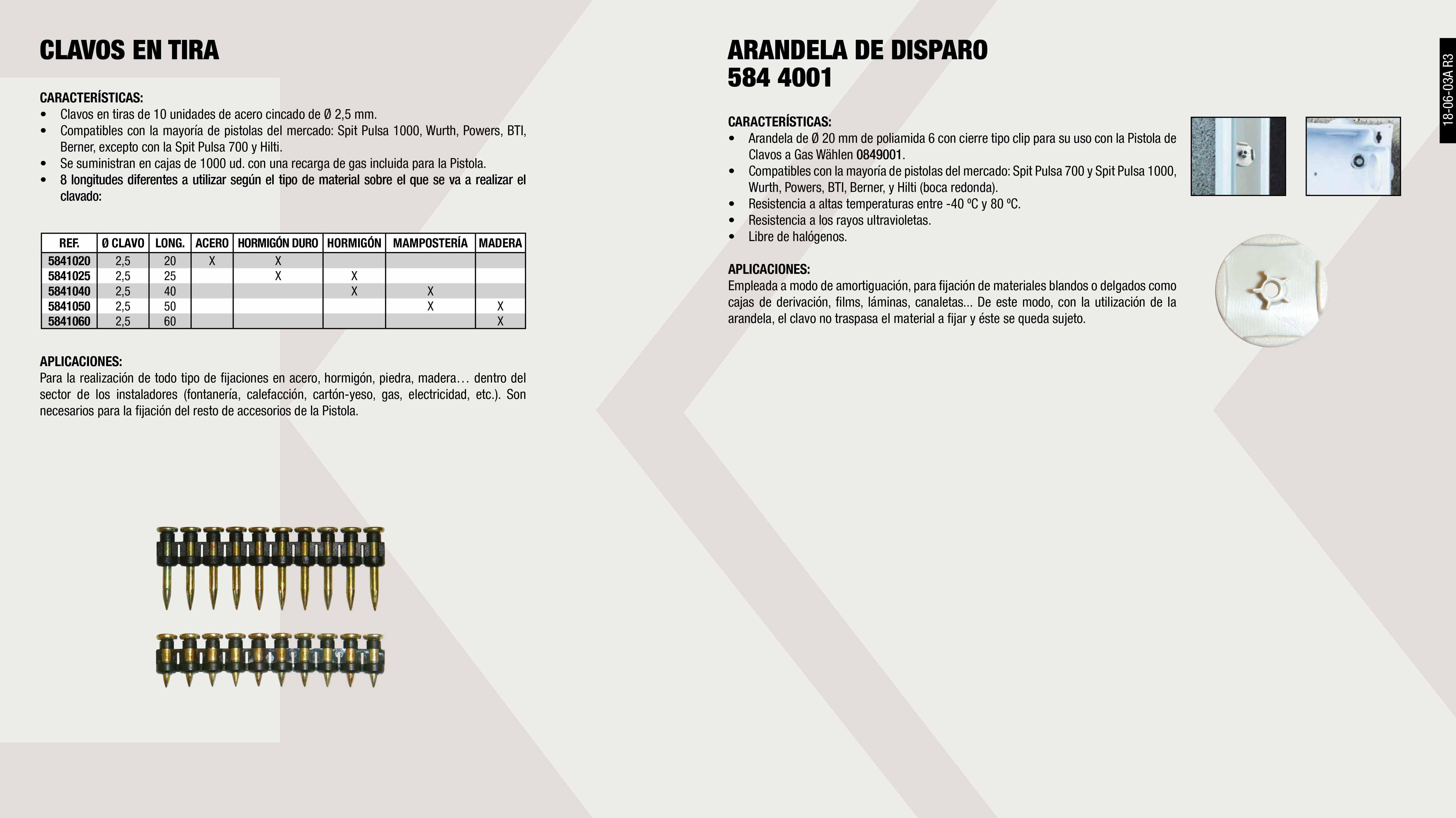 CAJA 1000 CLAVOS 20MM+RECARGA (0849001)                     ,  CAJA 1000 CLAVOS 30MM+RECARGA (0849001)                     ,  CAJA 1000 CLAVOS 40MM+RECARGA (0849001)                     ,  CAJA 1000 CLAVOS 25MM+RECARGA (0849001)                     ,  CAJA 1000 CLAVOS 50MM+RECARGA (0849001)                     ,  ARANDELA GRIS (0849001)                                     ,  CAJA 1000 CLAVOS 60MM+RECARGA (0849001)                     ,