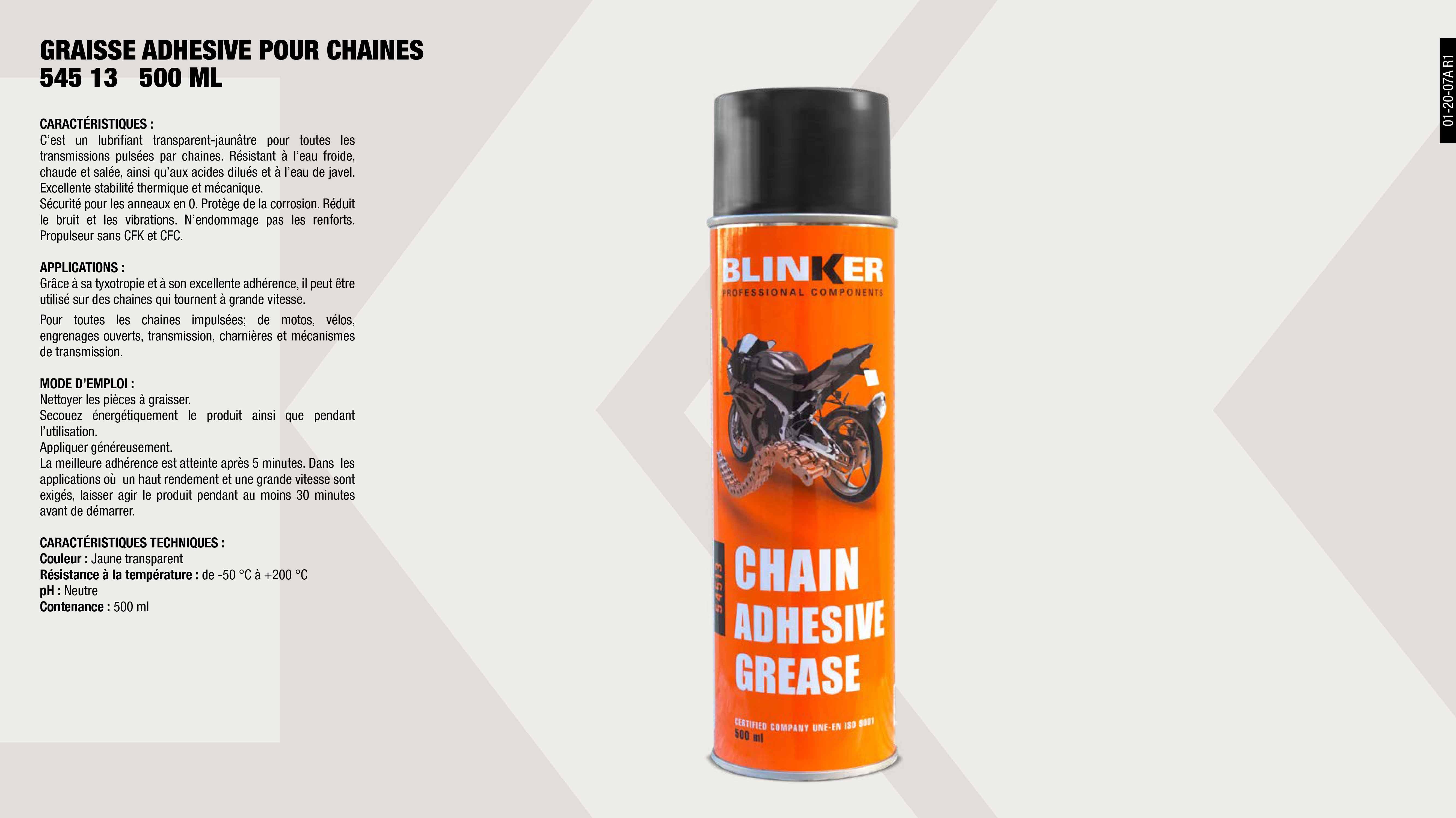 GRAISSE LIQUIDE POUR CHAINES 400ML (BIKE TECH)              ,  GRAISSE ADHESIVE POUR CHAINES 500ML (BIKE)                  ,