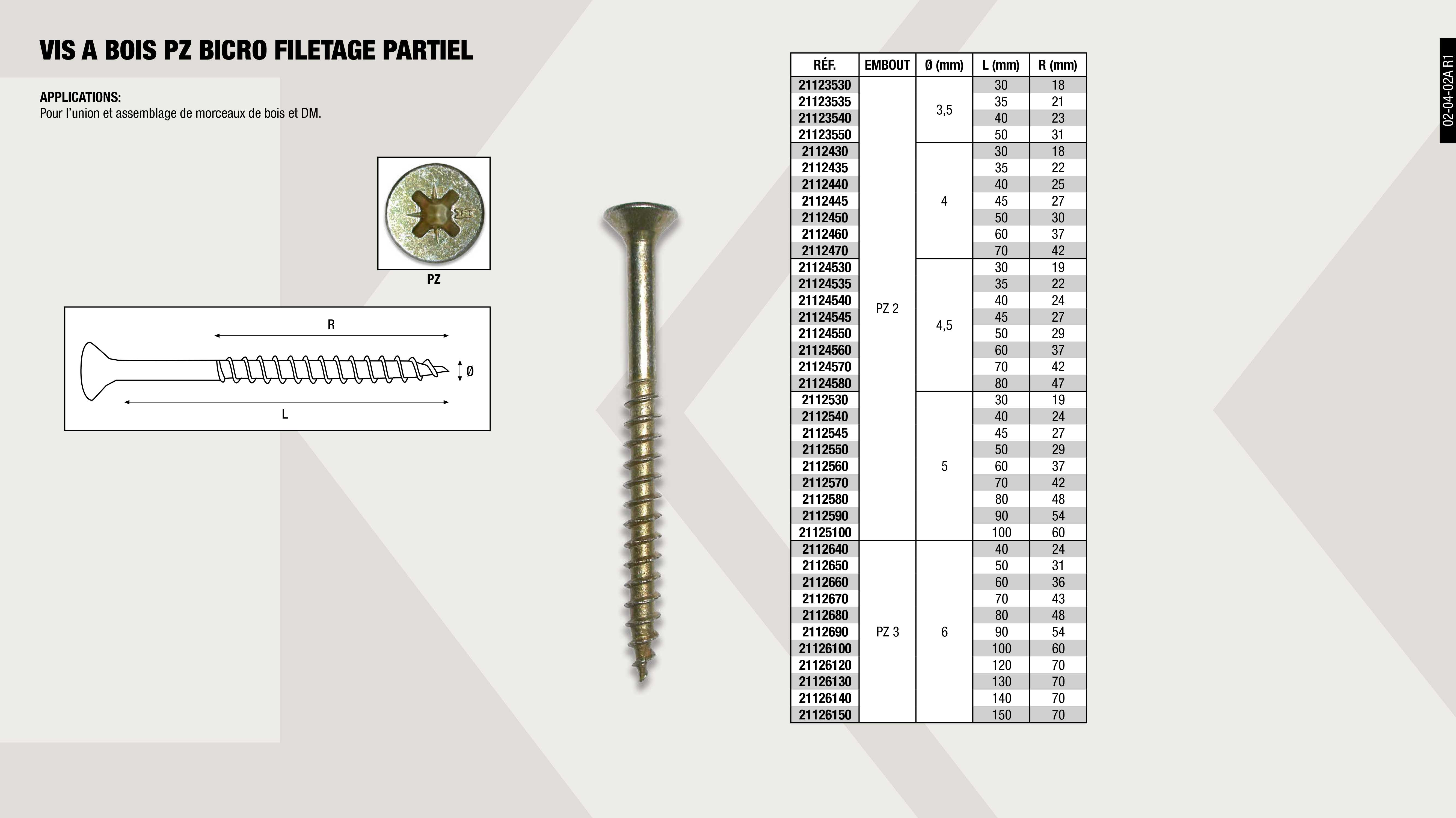 VIS AUTO FOREUSE (TETE CONIQUE) PV. 4,2X19 MM               ,  									VIS P/FORET DIN 7504P A2 PH 3,5X16 MM                       ,  									VIS AUTO FOREUSE (TETE CONIQUE) PV. 4,2X16 MM               ,  									VIS AUTO FOREUSE (TETE CONIQUE) ZN. 4,2X16 MM               ,  									VIS P/FORET DIN 7504P A2 PH 4,8X38 MM                       ,  									VIS P/FORET DIN 7504P A2 PH 4,2X19 MM                       ,  									VIS AUTO FOREUSE (TETE CONIQUE) ZN. 4,2X13 MM               ,  									VIS AUTO FOREUSE (TETE CONIQUE) ZN. 4,2X25 MM               ,  									VIS AUTO FOREUSE (TETE CONIQUE) ZN. 4,8X25MM                ,  									VIS AUTO FOREUSE (TETE CONIQUE) ZN. 3,5X13 MM               ,  									VIS AUTO FOREUSE (TETE CONIQUE) ZN. 4,2X19 MM               ,  									VIS AUTO FOREUSE (TETE CONIQUE) ZN. 4,8X16 MM               ,  									VIS AUTO FOREUSE (TETE CONIQUE) ZN. 4,2X32 MM               ,  									VIS AUTO FOREUSE (TETE CONIQUE) ZN. 3,5X16 MM               ,  									VIS AUTO-FOREUSE (TETE CONIQUE) ZN. 4,8X50MM                ,  									VIS AUTO FOREUSE (TETE CONIQUE) ZN. 4,8X32MM                ,  									VIS AUTO FOREUSE (TETE CONIQUE) PV. 3,5X19 MM               ,  									VIS AUTO FOREUSE (TETE CONIQUE) ZN. 3,5X25 MM               ,  									VIS AUTO-FOREUSE (TETE CONIQUE) ZN. 4,8X38MM                ,  									VIS P/FORET DIN 7504P A2 PH 3,5X19 MM                       ,  									VIS P/FORET DIN 7504P A2 PH 3,5X25 MM                       ,  									VIS AUTO FOREUSE (TETE CONIQUE) ZN. 4,2X19 MM               ,  									VIS P/FORET DIN 7504P A2 PH 3,5X13 MM                       ,  									VIS P/FORET DIN 7504P A2 PH 4,2X16 MM                       ,  									VIS P/FORET DIN 7504P A2 PH 4,8X50 MM                       ,  									VIS AUTO FOREUSE TETE FRIASEE ZN. 3,9X25                    ,  									VIS AUTO FOREUSE (TETE CONIQUE) PV. 3,5X13 MM               ,  									VIS P/FORET DIN 7504P A2 PH 4,2X13 MM                       ,  									VIS P/FORET DIN 7504P A2 PH 4,2X25 MM                       ,  									VIS P/FORET DIN 7504P A2 PH 4,8X25 MM                       ,  									VIS AUTO FOREUSE (TETE CONIQUE) PV. 3,5X16 MM               ,  									VIS AUTO FOREUSE (TETE CONIQUE) ZN. 3,5X19 MM               ,  									VIS AUTO FOREUSE (TETE CONIQUE) ZN. 4,8X13 MM               ,  									VIS P/FORET DIN 7504P A2 PH 4,2X32 MM                       ,  									VIS P/FORET DIN 7504P A2 PH 4,8X32 MM                       ,  									VIS AUTO FOREUSE TETE FRIASEE ZN. 3,9X32                    ,