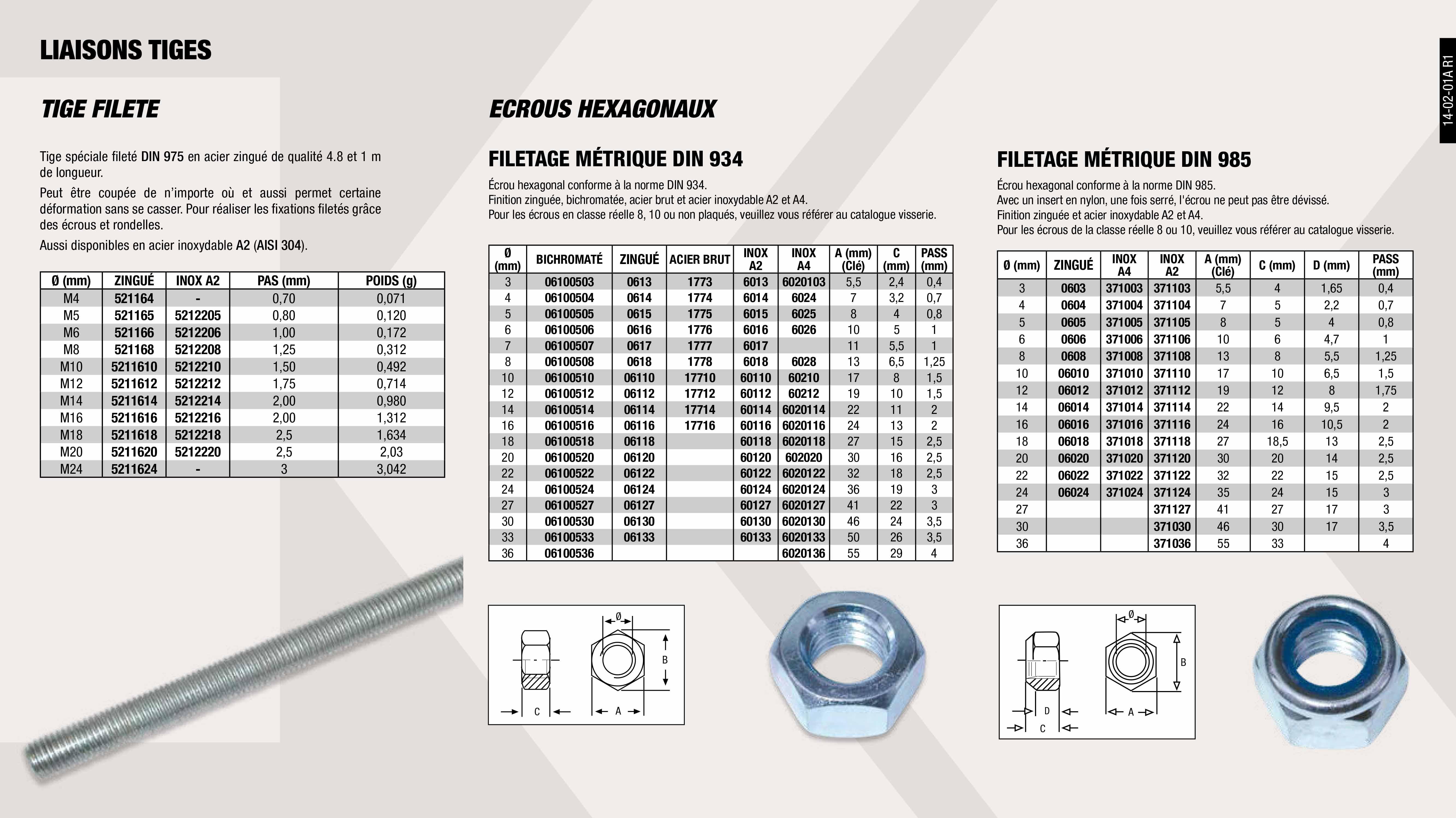BOBINE 50 M CABLE ACIER GV 1,5 MM                           ,  BOBINE 50 M CABLE ACER GV 2,5 MM                            ,  MECANISME BLOQUE CABLE ACIER 1,5-2,5 MM                     ,