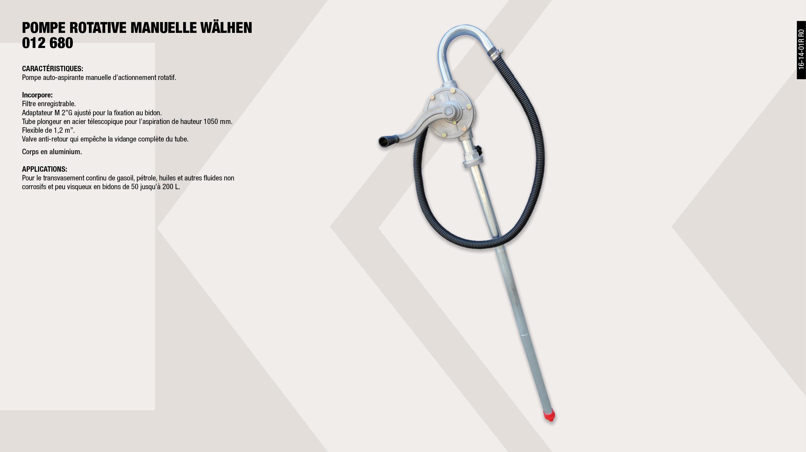 POMPE ROTATIVE MANUELLE WAHLEN 250                          ,