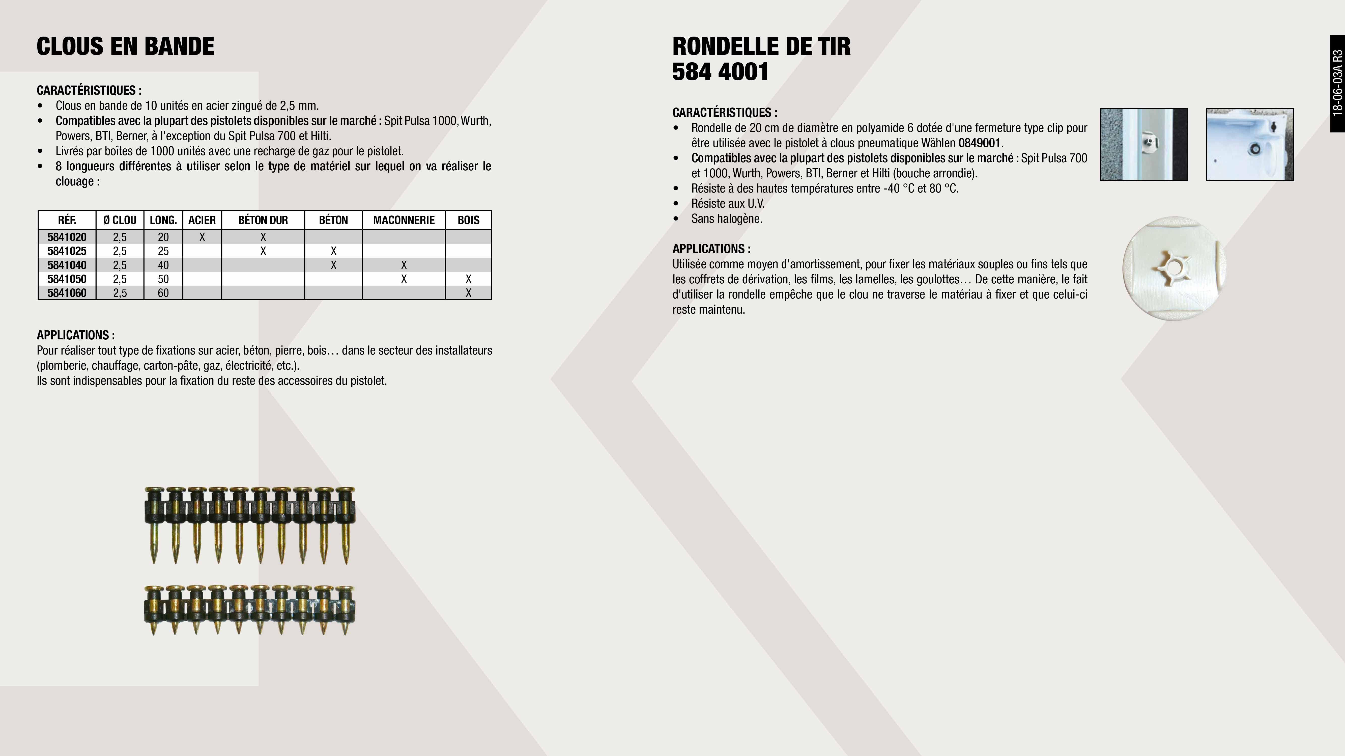 RONDELLE GRIS (0849001)                                     ,  BOITE 1000 CLOUS 60MM+RECHARGE (0849001)                    ,  RECHARGE BOUTELLE GAZ (0849001)                             ,  BOITE 1000 CLOUS 25MM+RECHARGE (0849001)                    ,  BOITE 1000 CLOUS 35MM+RECHARGE (0849001)                    ,  BOITE 1000 CLOUS 30MM+RECHARGE (0849001)                    ,  BOITE 1000 CLOUS 20MM+RECHARGE (0849001)                    ,  BOITE 1000 CLOUS 40MM+RECHARGE (0849001)                    ,  BOITE 1000 CLOUS 50MM+RECHARGE (0849001)                    ,