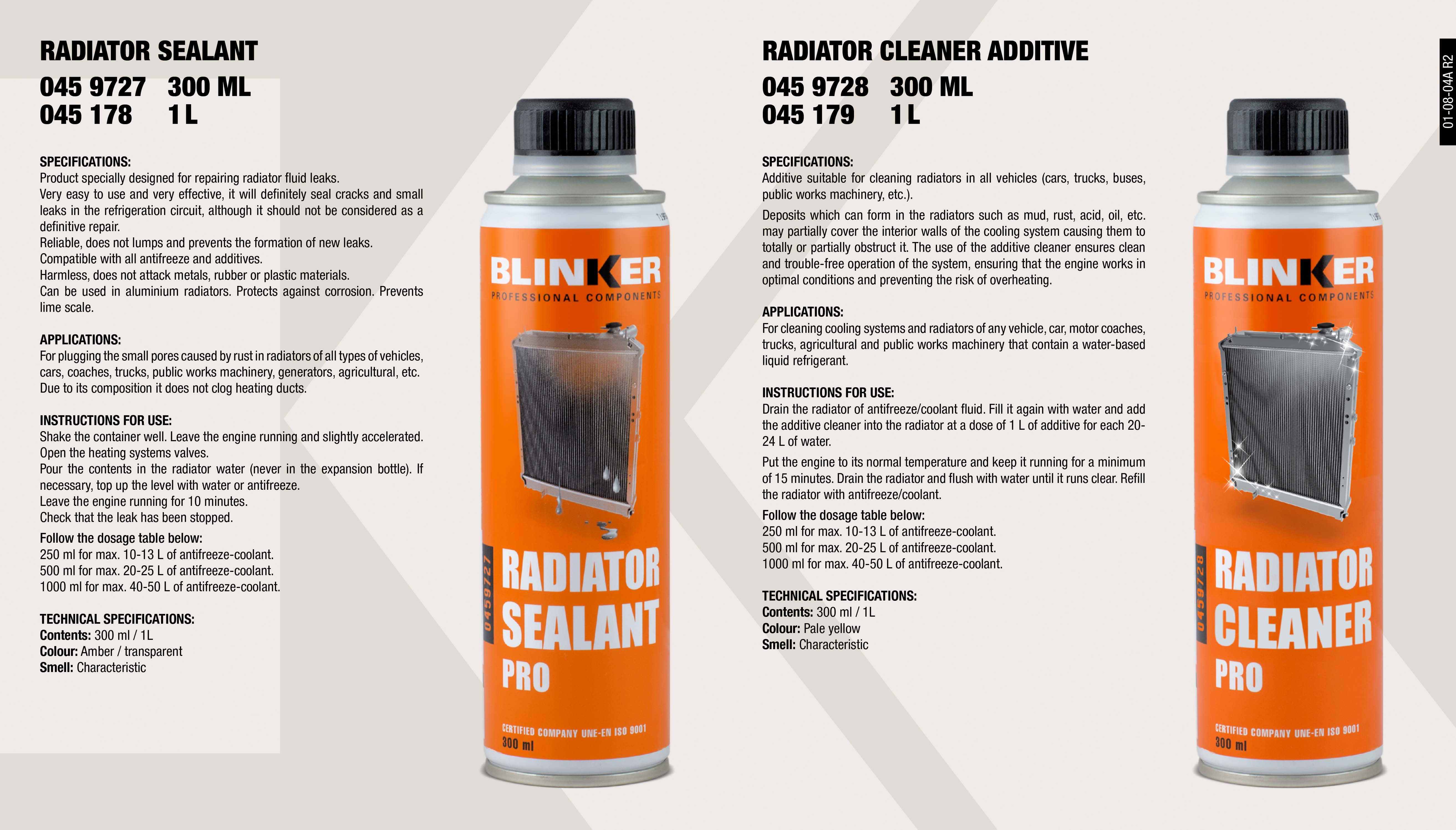 CHEMICALS: ADDITIVES/AUTO - Blinker