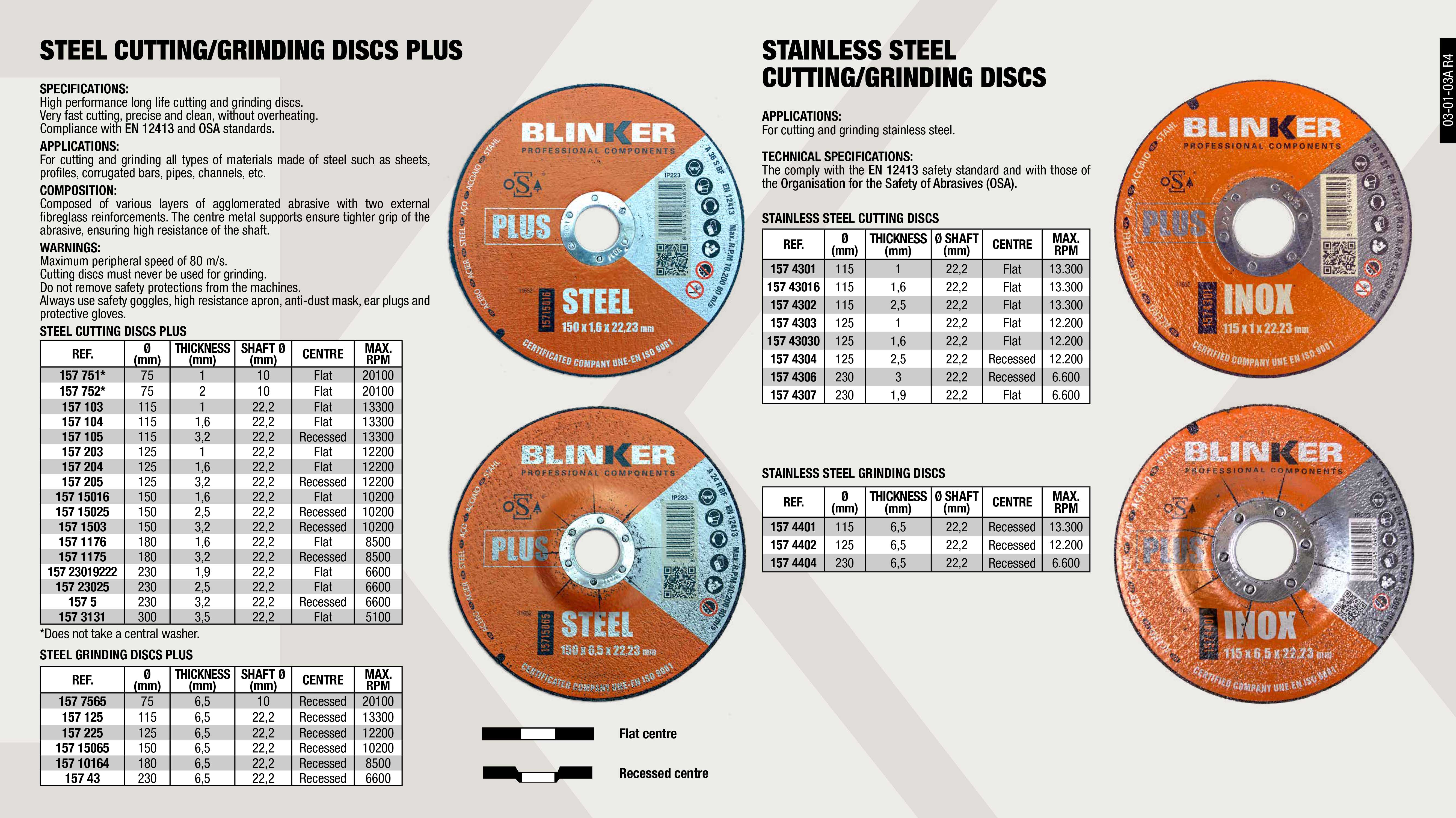 CUTTING DISC STEEL PLUS 125X3.2X22.2                        ,  									GRINDING DISC STAINLESS STEEL 180X6.5X22.2 PLUS             ,  									CUTTING DISC STEEL PLUS 125X1X22.2                          ,  									CUTTING DISC STEEL PLUS 125X1.6X22.2                        ,  									CUTTING DISC STEEL PLUS 230X3.2X22.2                        ,  									GRINDING DISC STEEL 150X6.5X22 PLUS                         ,  									GRINDING DISC STEEL 115X6.5X22 PLUS                         ,  									CUTTING DISC STEEL PLUS 150X3,2X22,2                        ,  									GRINDING DISC STAINLESS STEEL 75X6.5X10 PLUS                ,  									CUTTING DISC STEEL PLUS 115X1.6X22.2                        ,  									CUTTING DISC STAINLESS STEEL 125X0.8X22                     ,  									CUTTING DISC STAINLESS STEEL 115X2.5X22                     ,  									GRINDING DISC STAINLESS STEEL 115X6.5X22                    ,  									CUTTING DISC STEEL PLUS 150X1,6X22.2                        ,  									CUTTING DISC STEEL PLUS 75X2X10                             ,  									CUTTING DISC STEEL PLUS 300X3.5X22.2                        ,  									CUTTING DISC STAINLESS STEEL 125X2.5X22                     ,  									GRINDING DISC STAINLESS STEEL 125X6.5X22                    ,  									GRINDING DISC STAINLESS STEEL 230X6.5X22                    ,  									CUTTING DISC STEEL PLUS 150X2,5X22.2                        ,  									CUTTING DISC STEEL PLUS 180X3.2X22.2                        ,  									GRINDING DISC STAINLESS STEEL 230X6.5X22.2                  ,  									CUTTING DISC STEEL PLUS 230X1.9X22.2                        ,  									CUTTING DISC STEEL PLUS 180X1.6X22.2                        ,  									CUTTING DISC STAINLESS STEEL 115X0.8X22                     ,  									CUTTING DISC STEEL PLUS 115X1X22.2                          ,  									CUTTING DISC STEEL PLUS 115X3.2X22.2                        ,  									CUTTING DISC STAINLESS STEEL 180X2.5X22                     ,  									CUTTING DISC STAINLESS STEEL 230X3X22                       ,  									CUTTING DISC STAINLESS STEEL 230X1.9X22                     ,  									CUTTING DISC STEEL PLUS 75X1X10                             ,  									GRINDING DISC STEEL 125X6.5X22 PLUS                         ,