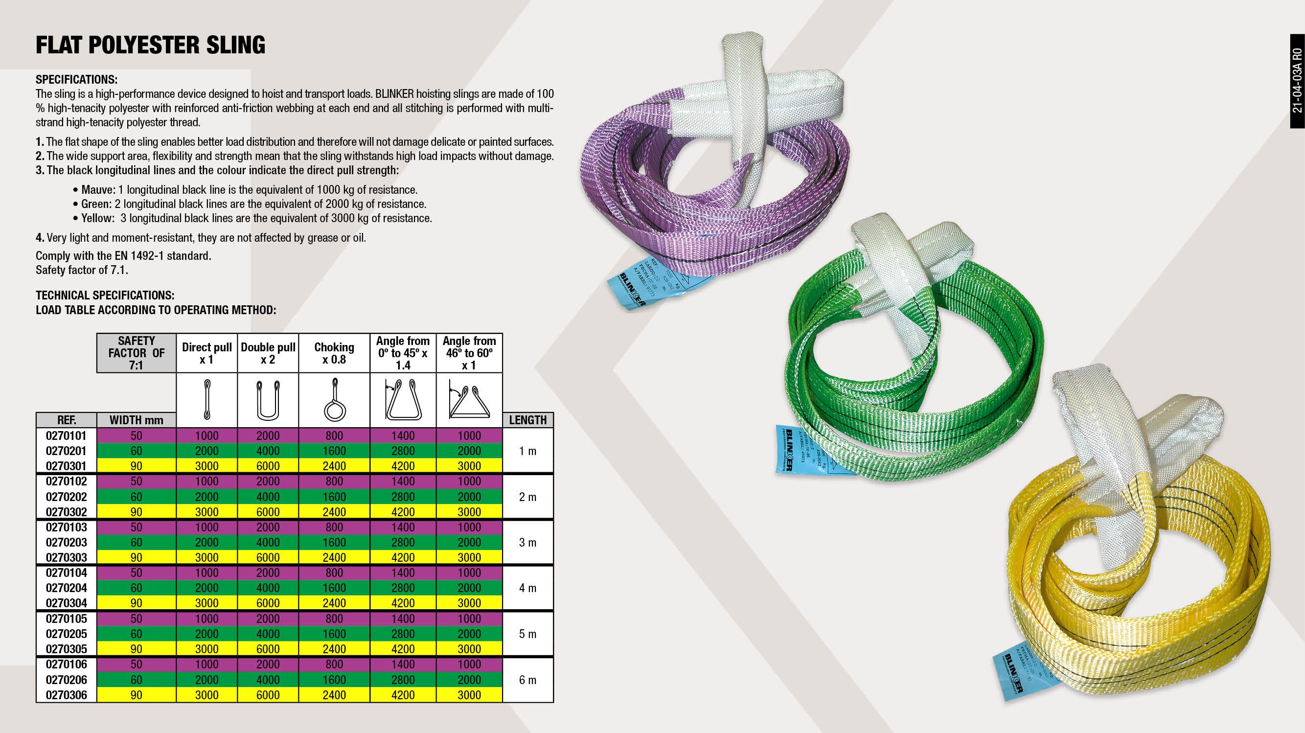 LILAC POLYESTER FLAT SLING 2M                               ,  LILAC POLYESTER FLAT SLING 5M                               ,  GREEN POLYESTER FLAT SLING 5M                               ,  YELLOW POLYESTER FLAT SLING 3M                              ,  POLYESTER FLAT SLING 1M GREEN                               ,  LILAC POLYESTER FLAT SLING 3M                               ,  GREEN POLYESTER FLAT SLING 4M                               ,  LILAC POLYESTER FLAT SLING 4M                               ,  LILAC POLYESTER FLAT SLING 6M                               ,  GREEN POLYESTER FLAT SLING 2M                               ,  YELLOW POLYESTER FLAT SLING 2M                              ,  YELLOW POLYESTER FLAT SLING 4M                              ,  GREEN POLYESTER FLAT SLING 6M                               ,  POLYESTER FLAT SLING 1M YELLOW                              ,  YELLOW POLYESTER FLAT SLING 5M                              ,  POLYESTER FLAT SLING 1M PURPLE                              ,  YELLOW POLYESTER FLAT SLING 6M                              ,  GREEN POLYESTER FLAT SLING 3M                               ,