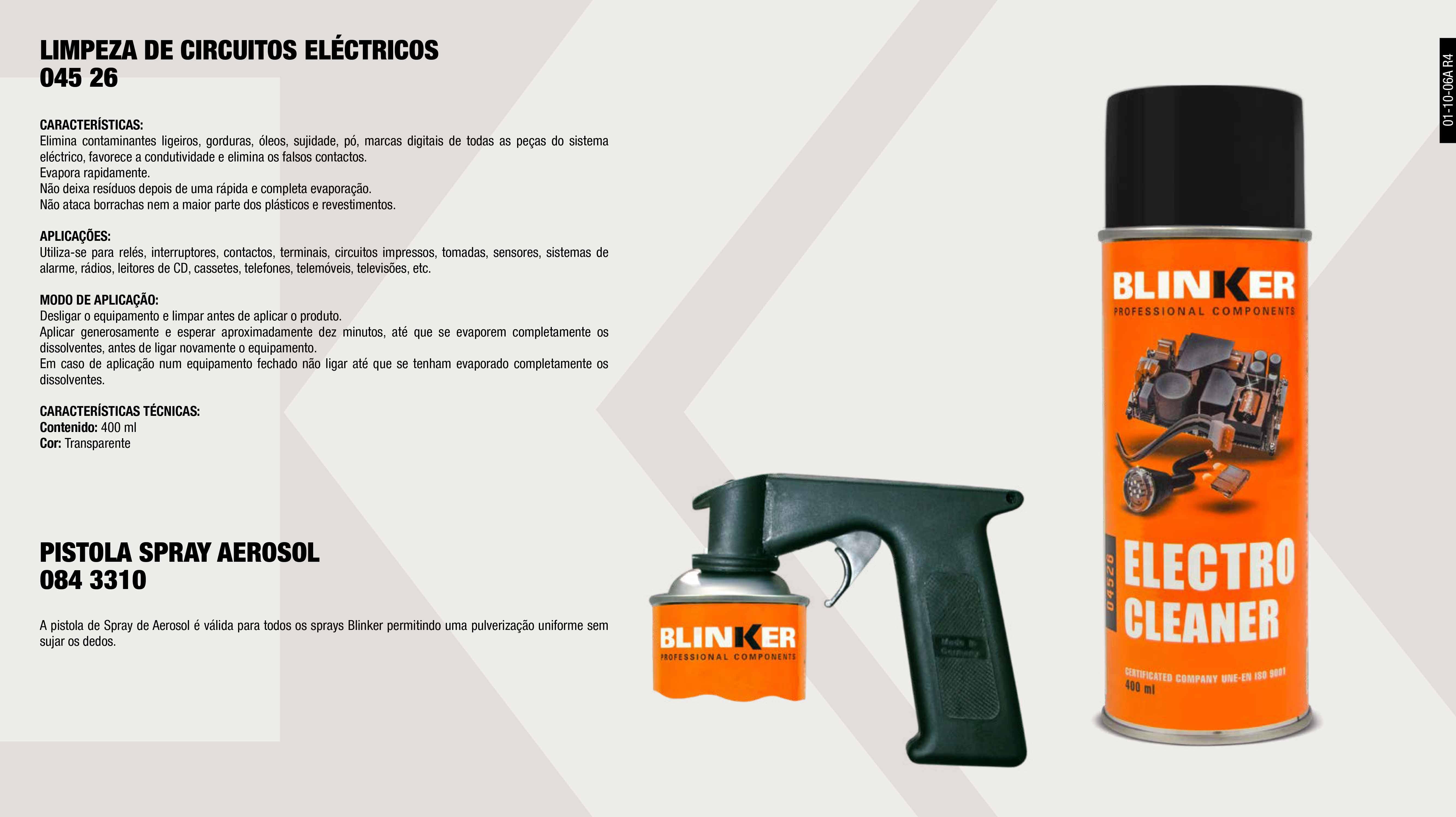 SPRAY DE CONTACTOS ELECTRICOS 400ML.                        ,  PISTOLA SPRAY AEROSSOL                                      ,