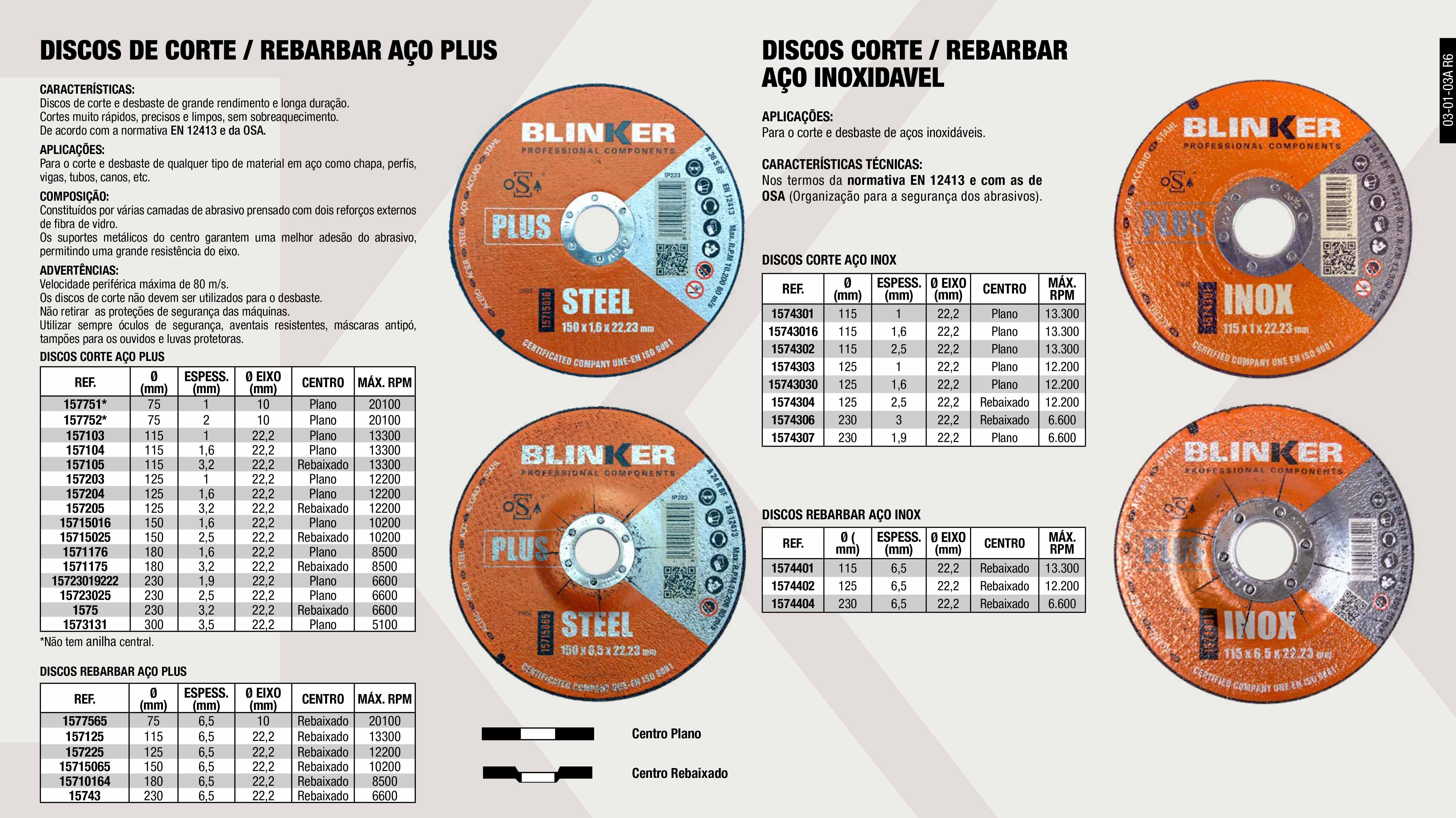 DISCO CORTE ACERO 75X2X10 PLUS                              ,  DISCO CORTE 180X2.5X22                                      ,  DISCO DESBASTE ACERO 180X6,5X22,2 PLUS                      ,  DISCO CORTE ACERO 115X3,2X22,2 PLUS                         ,  DISCO CORTE ACERO 300X3,5X22,2 PLUS                         ,  DISCO CORTE 115X1X22 INOX                                   ,  DISCO CORTE 115X2.5X22 INOX                                 ,  DISCO DE CORTE 230X1.9X22 INOX                              ,  DISCO CORTE AÇO 230MM X 1.9MM X 22MM                        ,  DISCO CORTE ACERO 180X1,6X22,2 PLUS                         ,  DISCO REBARBAR 125X6.5X22 INOX                              ,  DISCO DESBASTE AÇO 150X6,5X22.2 PLUS                        ,  DISCO DESBASTE ACERO 230X6,5X22,2 PLUS                      ,  DISCO CORTE ACERO 125X3,2X22,2 PLUS                         ,  DISCO CORTE ACERO 75X1X10 PLUS                              ,  DISCO CORTE 125X1X22 INOX                                   ,  DISCO DESBASTE ACERO 115X6,5X22,2 PLUS                      ,  DISCO DESBASTE ACERO 125X6,5X22,2 PLUS                      ,  DISCO DESBASTE ACERO 75X6,5X10 PLUS                         ,  DISCO CORTE ACERO 125X1X22,2 PLUS                           ,  DISCO REBARBAR 230X6.5X22 INOX                              ,  DISCO CORTE ACERO 230X3,2X22,2 PLUS                         ,  DISCO CORTE AÇO 150X1,6X22,2 PLUS                           ,  DICO CORTE ACERO 115X1,6X22,2 PLUS                          ,  DISCO REBARBAR 115X6.5X22 INOX                              ,  DISCO CORTE 230X3X22 INOX                                   ,  DISCO CORTE 125X2.5X22 INOX                                 ,  DISCO CORTE AÇO 150X3,2X22,2 PLUS                           ,  DISCO CORTE ACERO 125X1,6X22,2 PLUS                         ,  DISCO CORTE ACERO 180X3,2X22,2 PLUS                         ,  DISCO CORTE ACERO 115X1X22,2 PLUS                           ,  DISCO CORTE AÇO 150X2,5X22,2 PLUS              