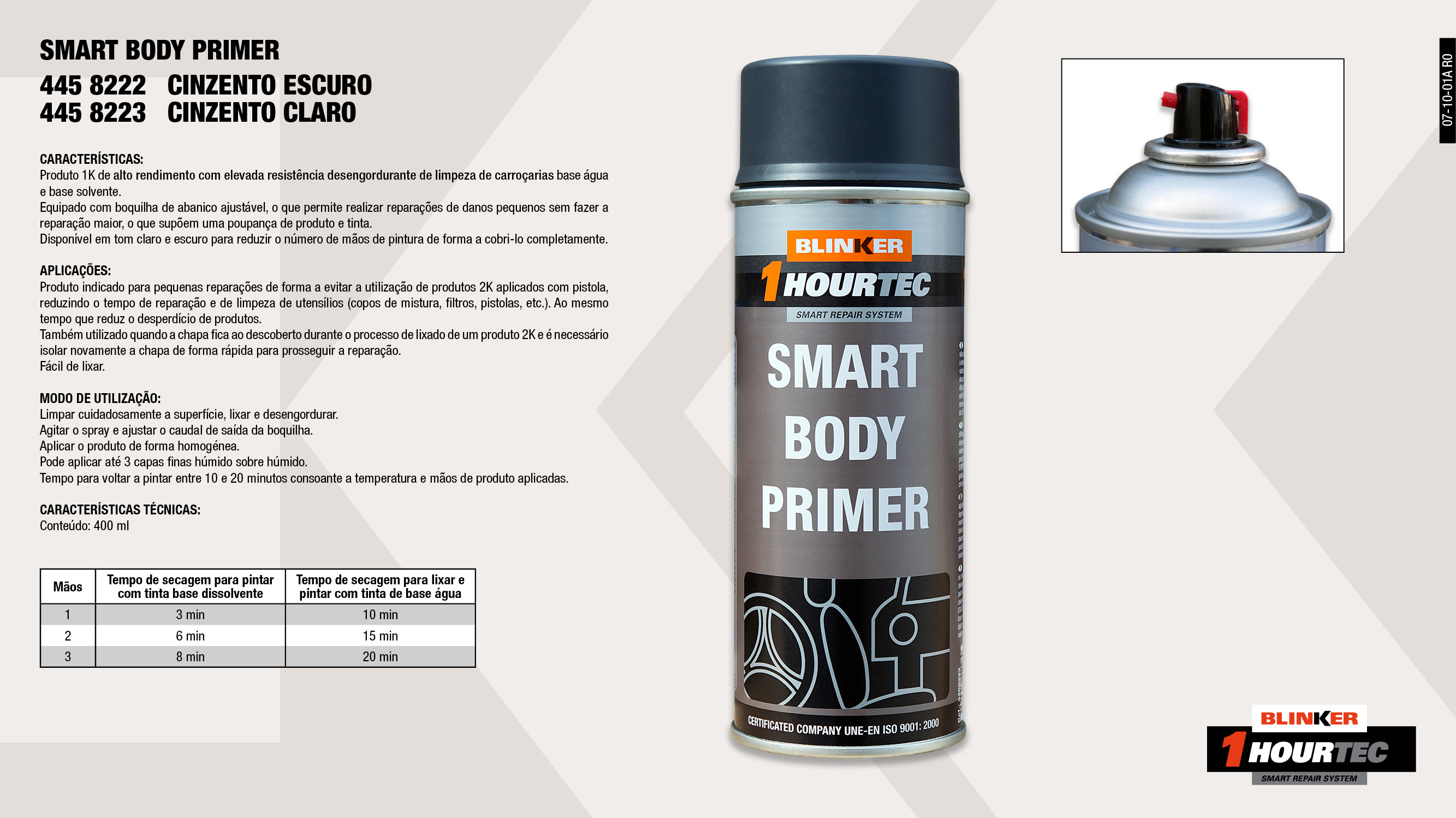 SMART BODY PRIMER LIGHT GREY 400ml                          ,  									SMART BODY PRIMER DARK GREY 400ml                           ,