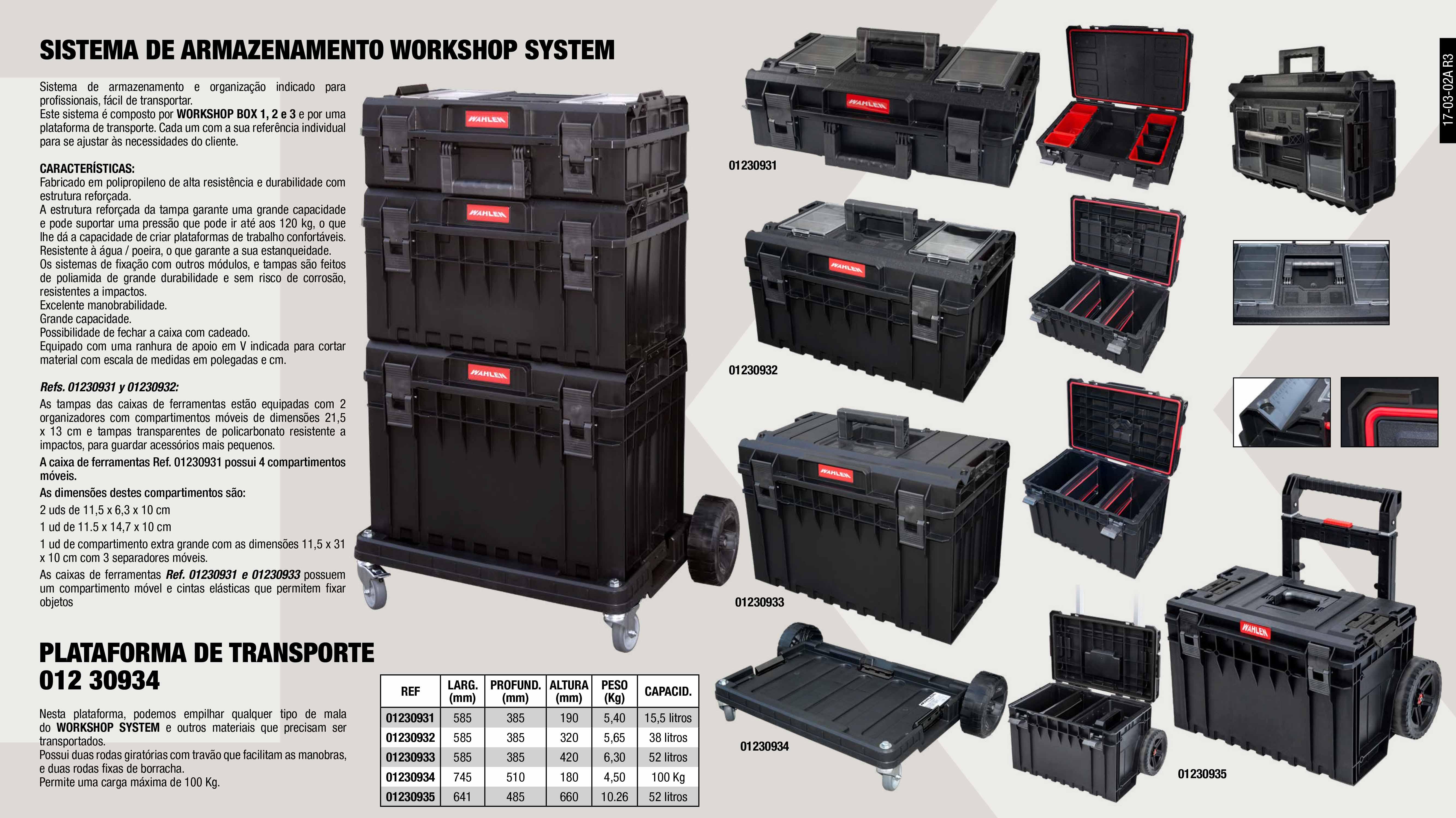 WORKSHOP SYSTEM WAHLEN 1                                    ,  WORKSHOP SYSTEM WAHLEN 3                                    ,  WORKSHOP SYSTEM TRANSPORT PLATFORM                          ,  WORKSHOP SYSTEM WAHLEN 2                                    ,