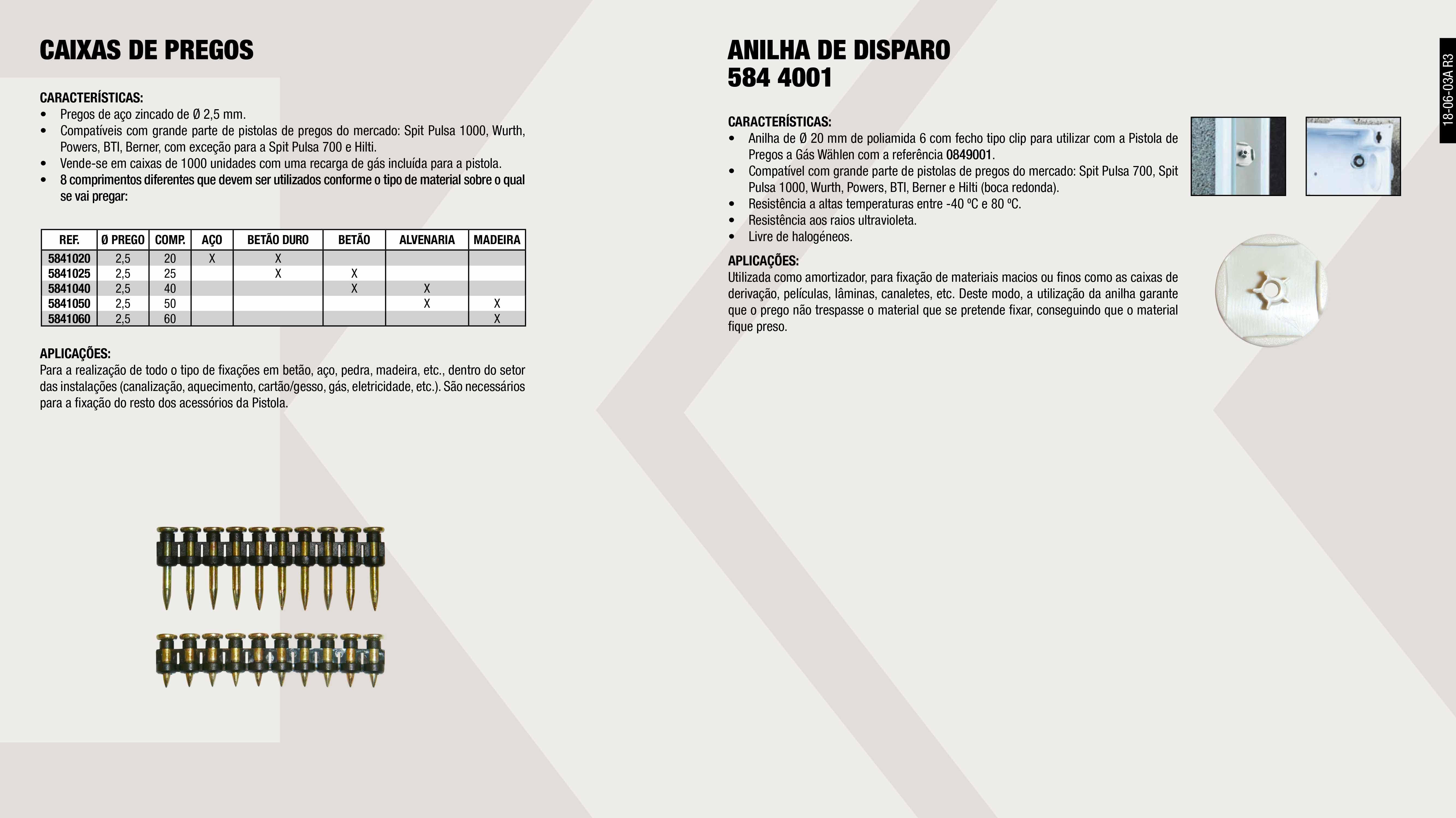 CAIXA 1000 PREGOS 25MM+RECARGA (0849001)                    ,  CAIXA 1000 PREGOS 35MM+RECARGA (0849001)                    ,  CAIXA 1000 PREGOS 50MM+RECARGA (0849001)                    ,  CAIXA 1000 PREGOS 40MM+RECARGA (0849001)                    ,  CAIXA 1000 PREGOS 30MM+RECARGA (0849001)                    ,  CAIXA 1000 PREGOS 60MM+RECARGA (0849001)                    ,  RECARGA GARRAFA GAS (0849001)                               ,  CAIXA 1000 PREGOS 20MM+RECARGA (0849001)                    ,  ARANDELA CINZENTO (0849001)                                 ,
